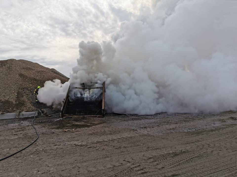Brandeinsatz Schottergrube