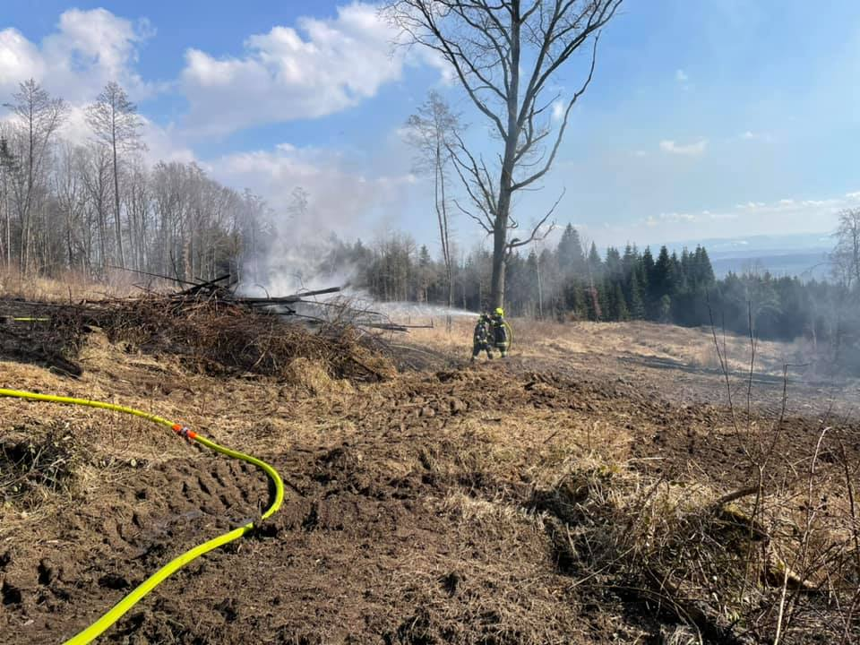 Waldbrand am Doberg