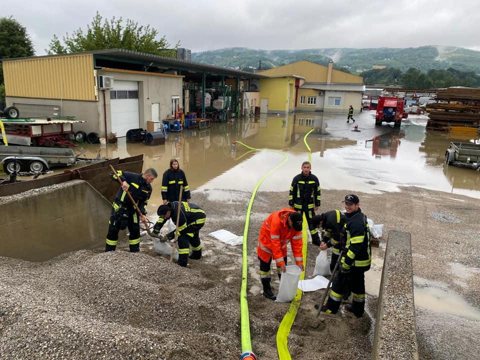 Unwetter und Hochwassereinatz